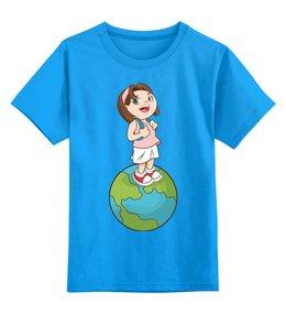 """Детская футболка классическая унисекс """"Школа"""" - девочка, школа, школьница"""