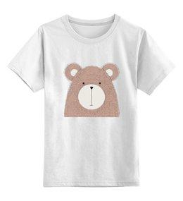 """Детская футболка классическая унисекс """"Медвежонок"""" - медведь, медвежонок, игрушка, детский, рисунок"""