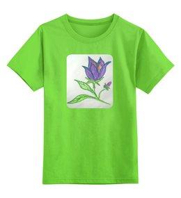 """Детская футболка классическая унисекс """"Колокольчик"""" - цветы, колокольчик"""