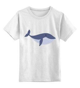 """Детская футболка классическая унисекс """"Кашалот"""" - море, кит, млекопитающее, кашалот"""