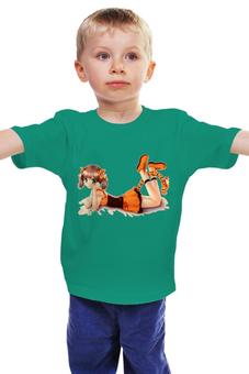 """Детская футболка """"Девочка"""" - девочка с хвостом"""
