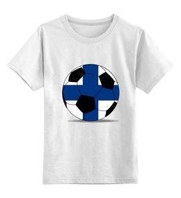 """Детская футболка классическая унисекс """"Футбол Финляндия"""" - футбол, мяч, футбольный мяч, финляндия"""
