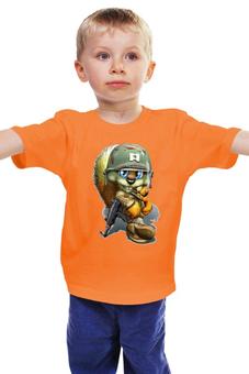 """Детская футболка """"Лисенок солдат"""" - герой, для мальчика"""