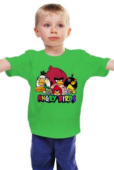 """Детская футболка классическая унисекс """"Angry birds """" - птички"""