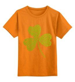 """Детская футболка классическая унисекс """"Без названия"""" - клевер, ирландия, день святого патрика, st patrick day, st patricks day"""