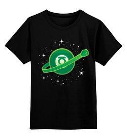 """Детская футболка классическая унисекс """"Зелёный Фонарь"""" - зелёный фонарь, the green lantern"""