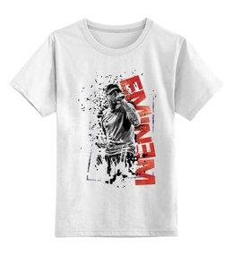 """Детская футболка классическая унисекс """"Eminem"""" - eminem, эминем, rapper, slim shady"""