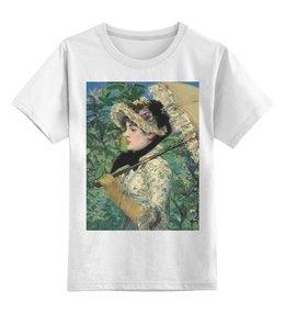 """Детская футболка классическая унисекс """"Жанна (Весна) (картина Эдуарда Мане)"""" - картина, импрессионизм, живопись, мане"""