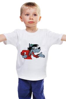 """Детская футболка """"Ну, погоди!"""" - ссср, мультфильмы, волк, ну погоди"""