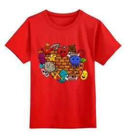 """Детская футболка классическая унисекс """"СТИКЕРЫ. МУЛЬТФИЛЬМЫ"""" - персонажи, стиль эксклюзив креатив красота яркость, арт фэнтези"""