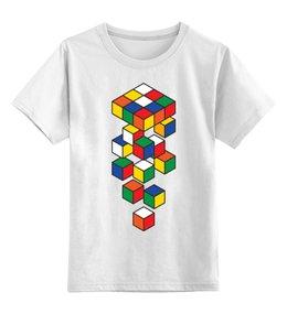 """Детская футболка классическая унисекс """"Кубик Рубика"""" - кубик, кубик рубика"""