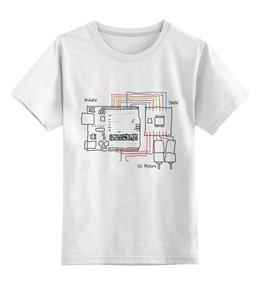 """Детская футболка классическая унисекс """"Подключение моторов к Ардуино"""" - роботы, arduino, ардуино"""