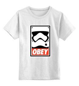 """Детская футболка классическая унисекс """"Obey SatrWars"""" - darth vader, obey, звездные войны, starwars, дарт вейдер"""