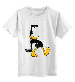 """Детская футболка классическая унисекс """"Daffy Duck"""" - daffy duck, даффи дак, утка даффи"""