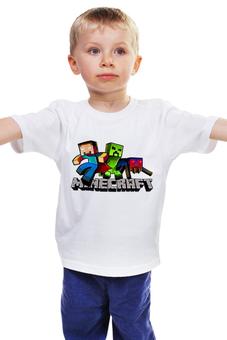 """Детская футболка классическая унисекс """"Minecraft"""" - minecraft, майнкрафт"""