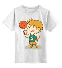 """Детская футболка классическая унисекс """"Юный баскетболист"""" - спорт, рисунок, детский, спортивный, баскетбол"""