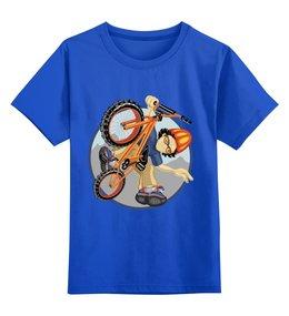 """Детская футболка классическая унисекс """"Велосипед"""" - спорт, мальчик, велосипед"""