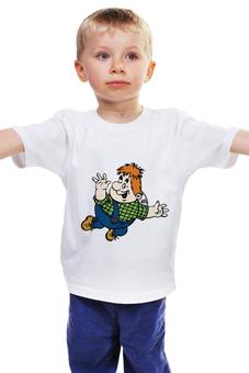 "Детская футболка классическая унисекс ""Карлсон"" - карлсон, tshirt, мульт персонаж, futbolka, karlsson"