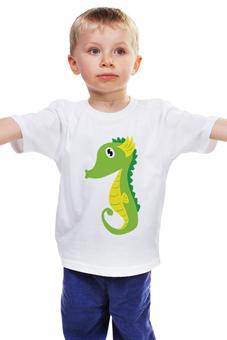 """Детская футболка """"Морской Конёк"""" - животные, море, морской конёк"""