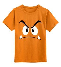 """Детская футболка классическая унисекс """"Гумба"""" - марио, mario, гумба"""