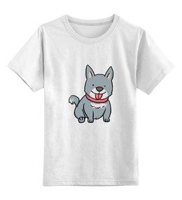"""Детская футболка классическая унисекс """"Милая собачка"""" - щенок, собака, пёс, 2018, год собаки"""
