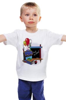 """Детская футболка """"ДЕНЬ ЗНАНИЙ.1 СЕНТЯБРЯ.ШКОЛА"""" - школа, 1 сентября, день знаний, гранит науки"""