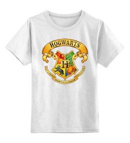 """Детская футболка классическая унисекс """"HOGWARTS"""" - хогвартс, hogwarts, harry potter, гарри поттер"""