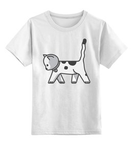 """Детская футболка классическая унисекс """"Милый котёнок"""" - котёнок, кот, кошка, cat, животное"""