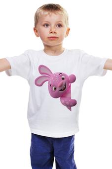 """Детская футболка классическая унисекс """"Зайчик"""" - смех, заяц, улыбка, смешной, зайчик"""