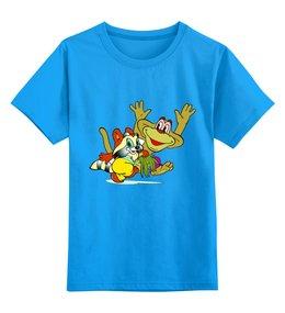 """Детская футболка классическая унисекс """"Крошка Енот """" - мультик, обезьянка, енотик"""