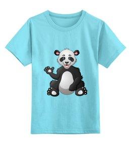 """Детская футболка классическая унисекс """"Привет,я панда!"""" - юмор, няшка"""