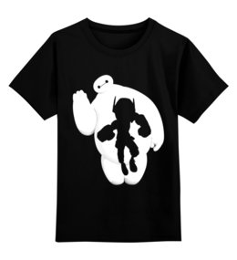 """Детская футболка классическая унисекс """"Баймакс (Город Героев)"""" - баймакс, город героев, baymax"""