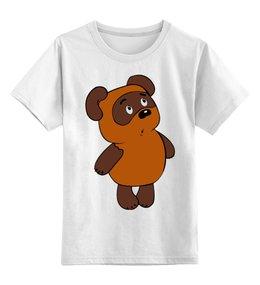 """Детская футболка классическая унисекс """"Винни-Пух"""" - bear, winnie pooh, винни пух, медвежонок винни, мишка"""