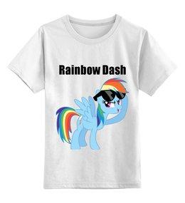 "Детская футболка классическая унисекс ""Rainbow Dash"" - mlp, my little pony, rainbow, dash, friendship is magic, dashie, coller"