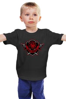 """Детская футболка """"House Targaryen"""" - дракон, огонь, игра престолов, game of thrones, кхалиси"""