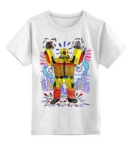 """Детская футболка классическая унисекс """"Робот"""" - арт, авторские майки, футболка, популярные, рисунок, прикольные, павел петров арт"""