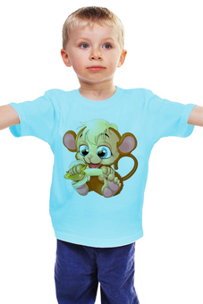 "Детская футболка ""Обезьянка"" - обезьяна, банан"