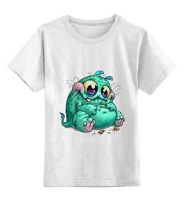 """Детская футболка классическая унисекс """"Монстрик"""" - рисунок, улыбка, фэнтэзи, карикатура"""