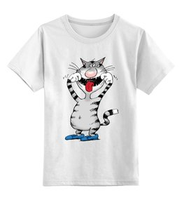 """Детская футболка классическая унисекс """"Улыбнись!"""" - прикольно, арт, авторские майки, футболка, дети, в подарок, дядя коля воронцов, микола"""