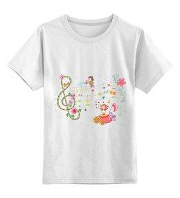 """Детская футболка классическая унисекс """"Музыка"""" - музыка, дети, ноты"""