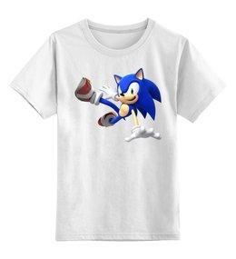 """Детская футболка классическая унисекс """"Sonic Dance"""" - dance, соник, еж соник, sonic, hedgehog"""