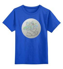"""Детская футболка классическая унисекс """"Подснежники"""" - весна, божья коровка, подснежники"""