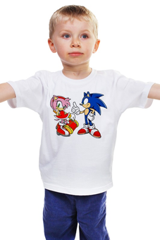 "Детская футболка ""SonAmy"" - соник, еж соник, sonic, hedgehog, amy"