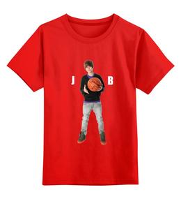 "Детская футболка классическая унисекс ""Justin Bieber"" - музыка, джастин бибер"