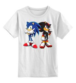 """Детская футболка классическая унисекс """"Sonic Shadow"""" - соник, еж соник, sonic, shadow, соник шэдоу"""