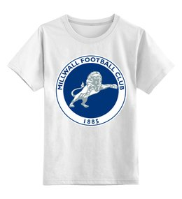 "Детская футболка классическая унисекс ""Millwall FC logo child tee"" - millwall, millwallfc, миллуолл, russian lions"