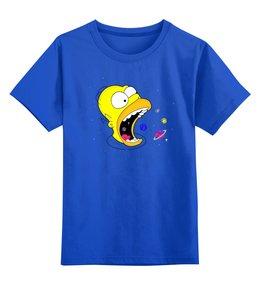 """Детская футболка классическая унисекс """"The Simpsons Cosmo"""" - мультфильм, космос, детям, симпсоны, любителям комиксов"""