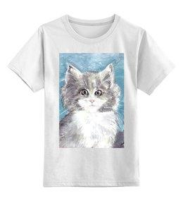 """Детская футболка классическая унисекс """"Котик"""" - кошка, детям, котик, подарок, животное"""
