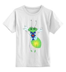 """Детская футболка классическая унисекс """"Светлячок - супергерой!"""" - герой, супергерой, светлячок, отважный"""