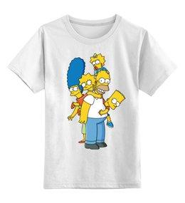 """Детская футболка классическая унисекс """"Simpsons Family"""" - симпсоны, the simpsons"""